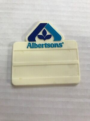Albertson's Grocery Store Name Tag Plastic