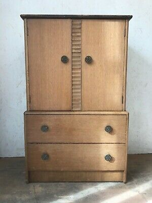 *Rare* Vintage G Plan Wooden Tall Boy Cupboard Chest of Drawers Storage