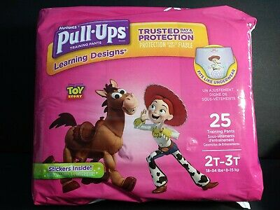 HUGGIES Pull-Ups Training Pants for GIRLS, Size 2T-3T