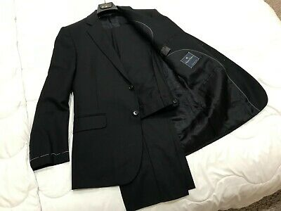 NEW NWT Brooks Brothers Mens Black/Navy Suit Size 38 Regular 32 W Pant 38X32