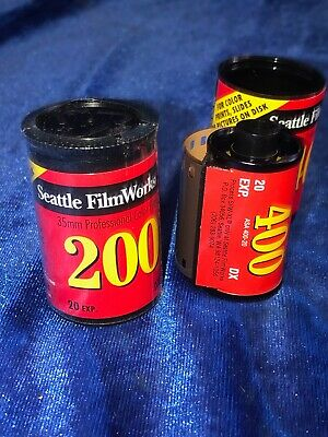Three Rolls Of Vintage Expired 35mm Film By Seattle Film Works ISO 200-400
