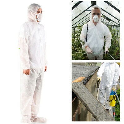 Disposable Protective Clothing Overall Coveralls Anti Dust Workshop Safety Suit