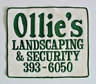 Large Vintage Ollie's Landscaping And Security Patch Embroidered Sew On Iron