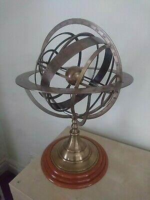 Large brass geocentric model of the universe - armillary sphere