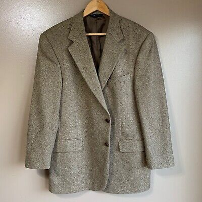 43R Brooks Brothers Brown Tweed Sport Coat Jacket Coat