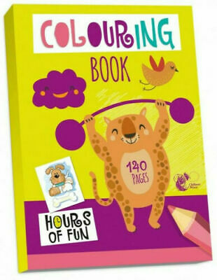 Kids Colouring Book Jumbo 140 Page A4  - KIDS BORED CHILDREN HOME OFF SCHOOL