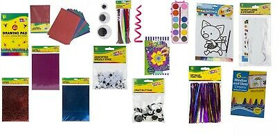 Kids arts and crafts kits activity creative paint stickers pens indoor play