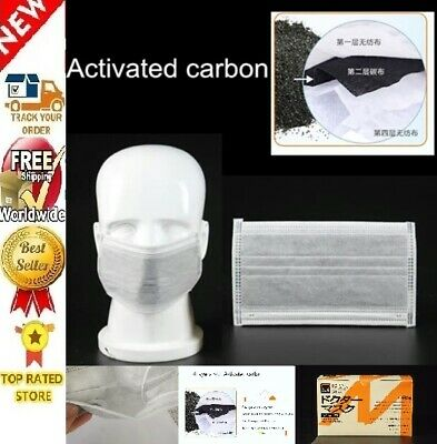 Clean Air? In Stock! 50pcs 4-Layers Activated Carbon Mouth Filter WProof Quality