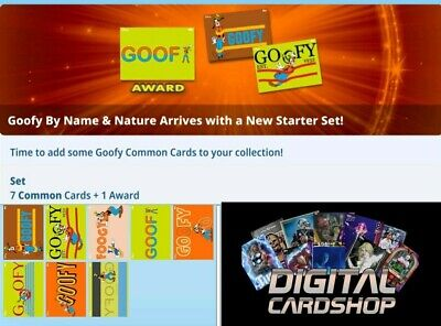 Topps Disney Collect Card Trader Goofy by Name & Nature Set of 7 Award Ready