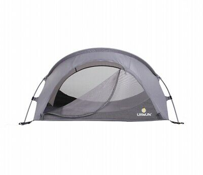 Littlelife Childen Travel Cot Arc 2 Grey Lightweight Compact Camping Air Holiday