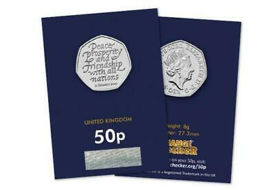 2020 UK WITHDRAWAL FROM EU BREXIT BU 50p COIN NEW MINT SEALED CERTIFIED PACK.