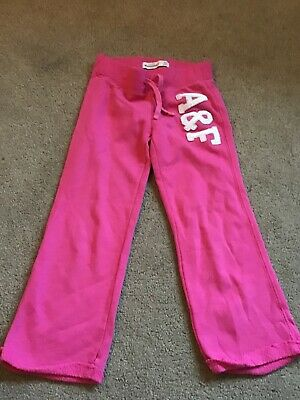 Kids Girls Abercrombie Pink Fleece Tracksuit Bottoms - Size Age 3 / 4