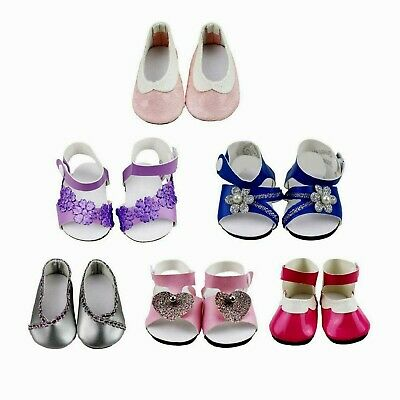 "TOYYSB 6 Pairs of Doll Shoes and Sandals Fits 18"" American Dolls Toys New"