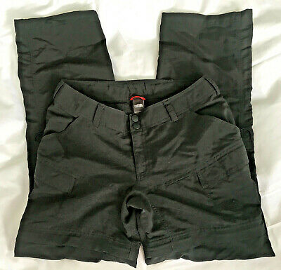 The NORTH FACE Pants Convertible Hiking Outdoor Size 6 Black Shorts Womens