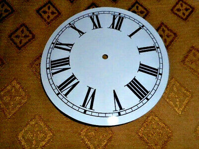 "Round Paper (Card) Clock Dial - 6"" M/T - Roman - GLOSS WHITE -  Parts/Spares"