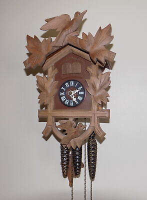 Vintage 3 Weight Black Forest Hubert Herr Musical Cuckoo Clock - Fully Working