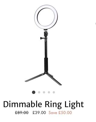 dimmable ring light with stand