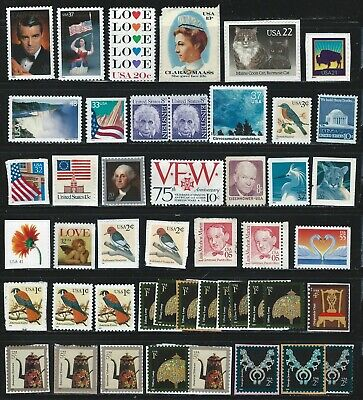 Stamps Usa 47 X Uncancelled On And Off Paper Nice Lot Value ($6,30)