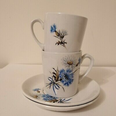 Vintage Alfred Meakin Cup And Saucer Set 4pc 1960s 1970s Retro Mid Century 21st