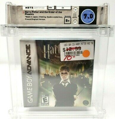 Harry Potter and the Order of Pheonix Nintendo Game Boy Advance GBA WATA 7.0 B+