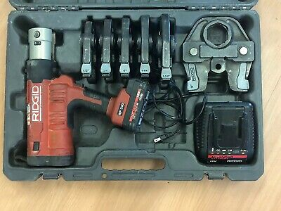 ridgid rp 340 With Case, Charger & Battery 6 Pro Press Heads