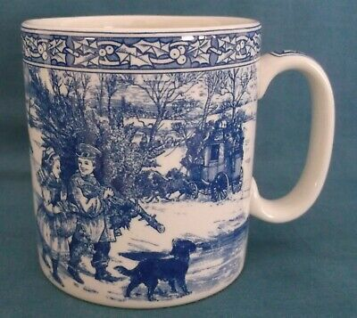Spode Blue Room Victorian Christmas Mug Number One First In Series Unused