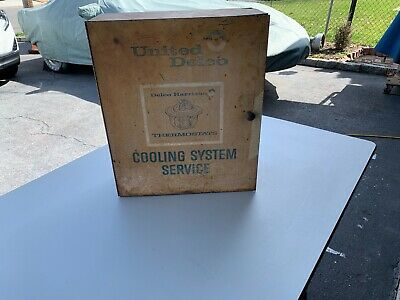 Vintage United Delco cooling system service cabinet.