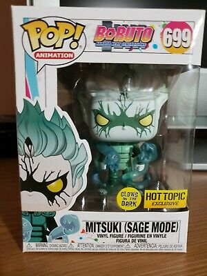 Funko Pop Boruto Naruto Mitsuki Sage Mode Hot Topic Exclusive GitD #699