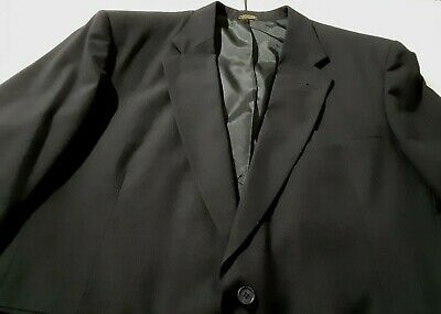Town Craft Suit Jacket Mens Black Lined(No size on Jacket)See Measurements below