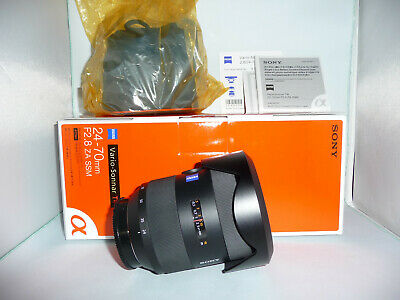 Sharp Sony AF 24-70mm F2.8 SSM Carl Zeiss Vario Sonnar T* Mint Box Alpha 77 99