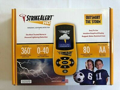StrikeAlert HD Personal Handheld Storm Lightning Detector Pager - MADE in USA