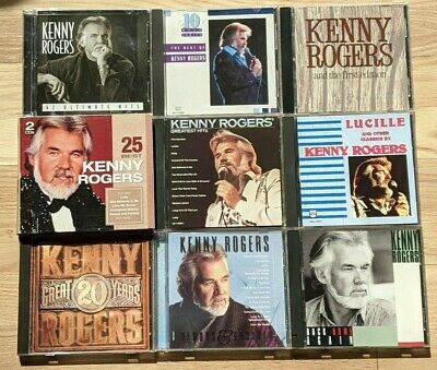 Kenny Rogers 9 CD Lot Best Of Lucille 42 Ultimate Hits Greatest Hits 20 Great Ye