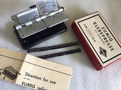 Vintage Boxed Eumig 8mm Editing Splicing Tool. Austria C50/60s. Mint wi Instruct
