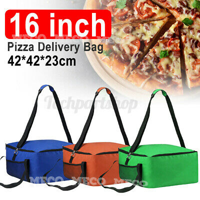 42cm Insulated Delivery Bag 16'Pizza Food Handbag Picnic Portable Carry Backpack