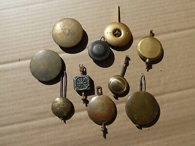 Great Job Lot Of Mixed Clock Pendulums