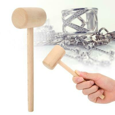 Practical 2pcs Wooden Round Head Hammer Silver Gold Jewelry Processing Tool