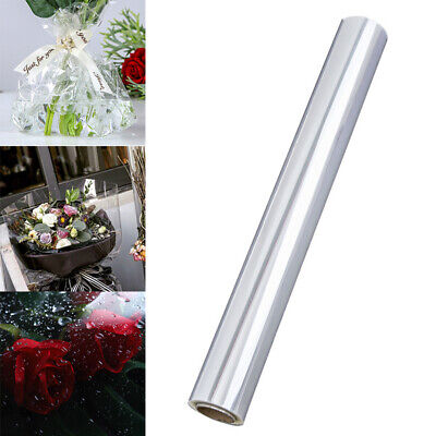 10mx54cm Clear Cellophane Wrap Film Roll Bouquet Baskets Hamper Wrapping Craft