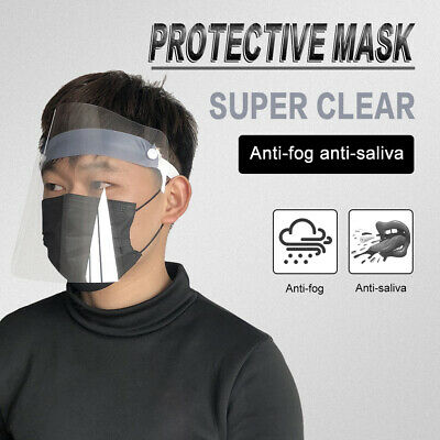 Full Face Shield Mask Clear Flip Up Visor Protection Safety Work Eye Face Guard