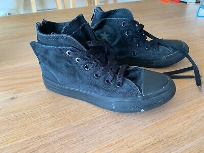 Black Converse RRP $70 Kids Size 13 High Tops 31