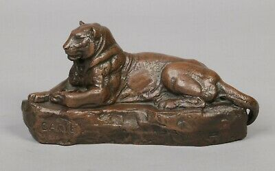 BARYE  BRONZE PANTHER No 2 ,SIGNED AND ENGRAVED BARBEDIENNE FONDEUR. WIDTH 28cm