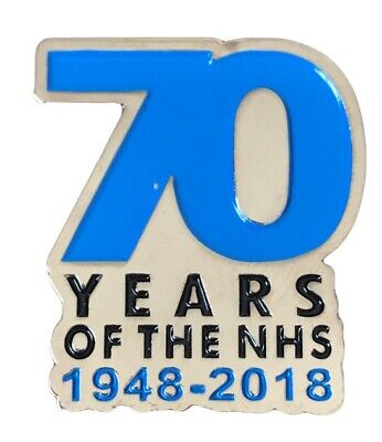The NHS National Health Service Pin Badge Enamel Brooch 1948-2018 70th Years UK