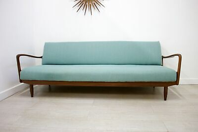 DELIVERY £60 Mid Century Retro Teak Sofa Bed by Greaves & Thomas