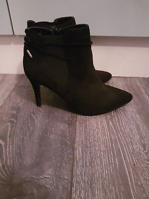 Bnwob Dorothy Perkins Faux Suede Ankle Boots Wide Fit Uk 7 41