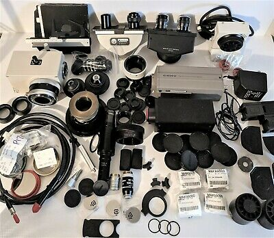 Microscope Parts, Accessories, Cameras, Objectives, Binocs, Stage, Condenser Lot