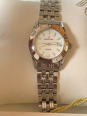 Universal Geneve Diver Automático All Steel, Lady, Eta 2000, Old Stock New