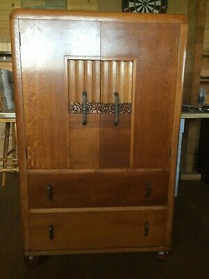 Art Deco Antique Oak Tallboy dresser bedroom