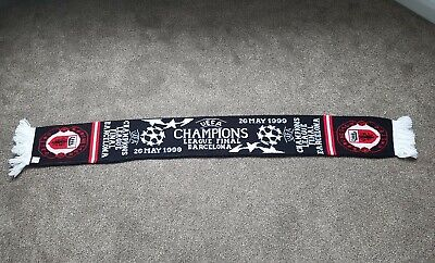 Manchester United Vintage Football Scarf Soccer Champions League final 1999 0669