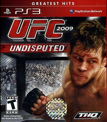 UFC UNDISPUTED 2009 ( PS3 Sony Playstation 3 NTSC ) Tested