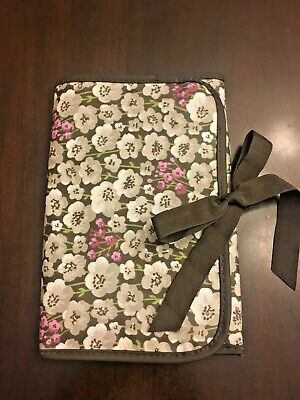Thirty-One Fold It Up Organizer Notebook Stationery Holder Brown Gray Purple New