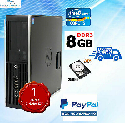 ComputerI PC DESKTOP FISSO USATO HP 8100 QUAD CORE i5 8 GB ram  250GB  hdd win10